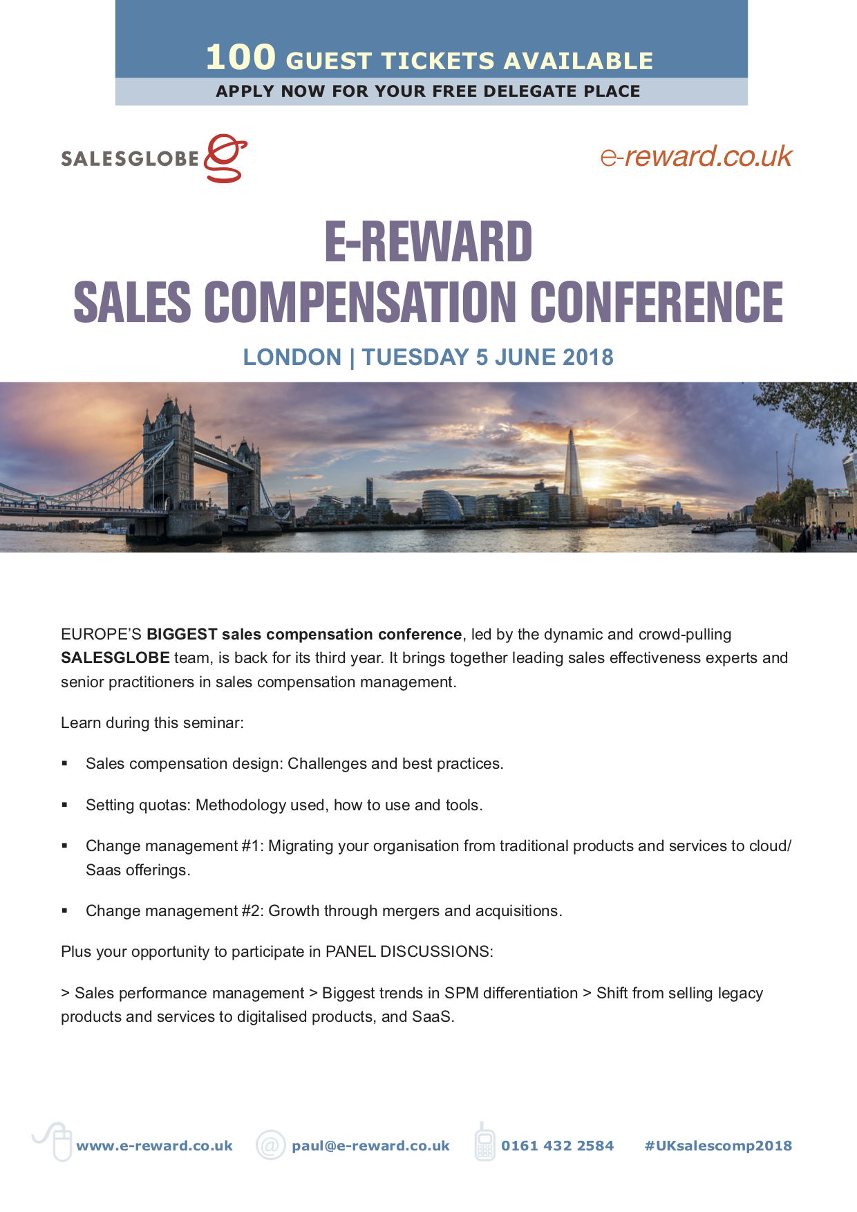 Sales Comp Conference brochure